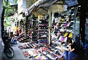Shoe shopping in the Old Quarter